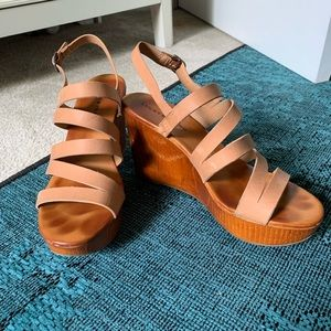 Lucky Brand Marinaa Tan Wedge